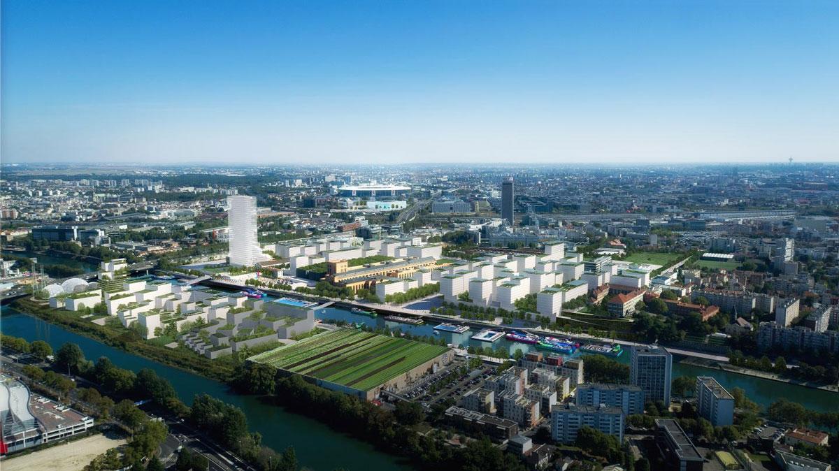 olympisch dorp parijs 2024 vanuit de lucht