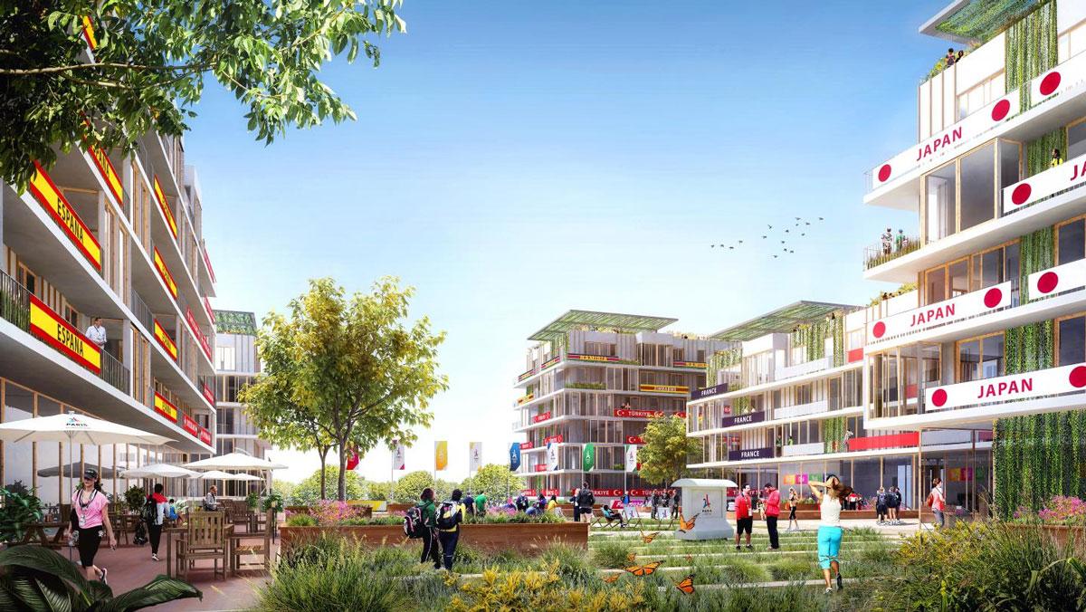Mock-up van olympisch dorp Parijs 2024
