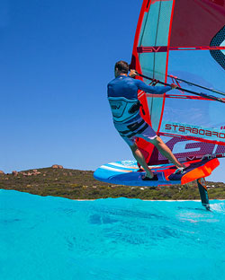 voorbeeld van iFoil windsurfen